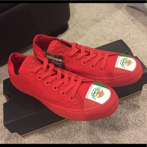 Converse red Mexico unisex sneakers